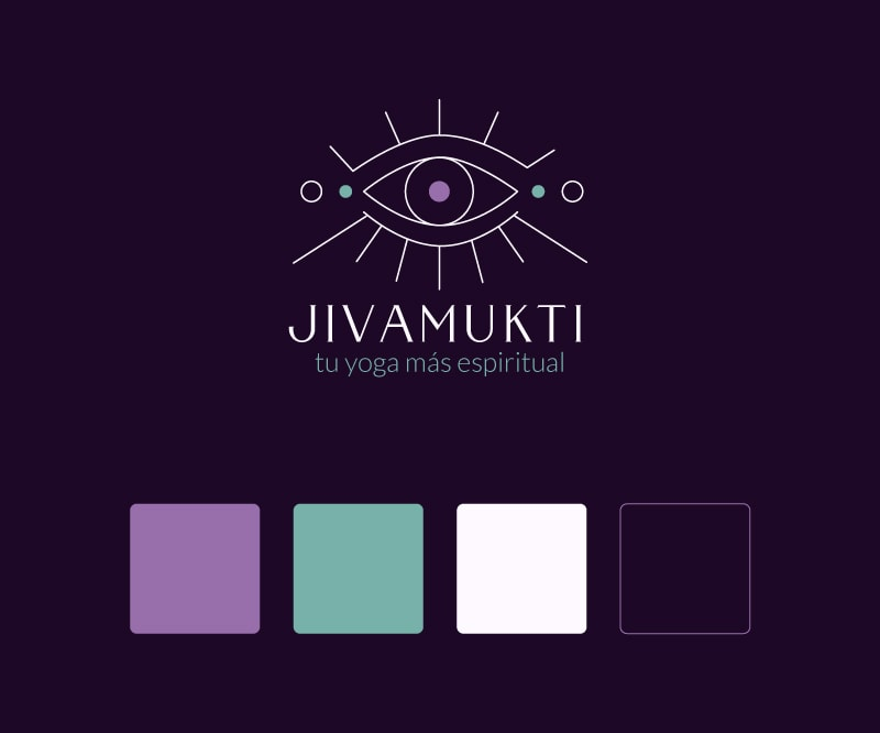 Diseño de logo principal para profesora de yoga