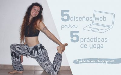 5 diseños web para 5 prácticas de yoga