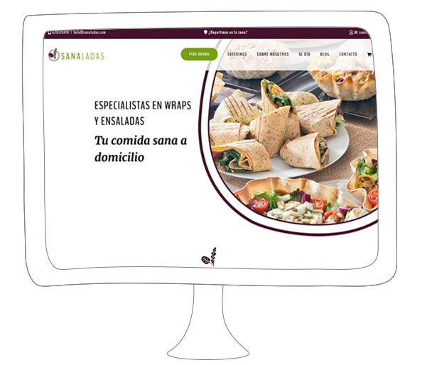 Diseño de paginas web para marcas saludables | Sanaladas
